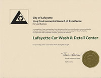 Lafayette 2014 Environmental Award of Excellence
